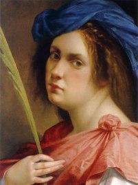 Artemisia Gentileschi, Autorretrato como mártir.