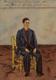 Frida Kahlo, Cortándome el pelo con unas tijeritas, 1940