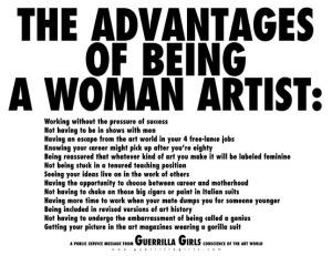 Guerrilla girls advantages