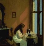 Edward Hopper, Muchacha cosiendo a máquina, 1921-1922, Museo Thyssen Bornemisza, Madrid.