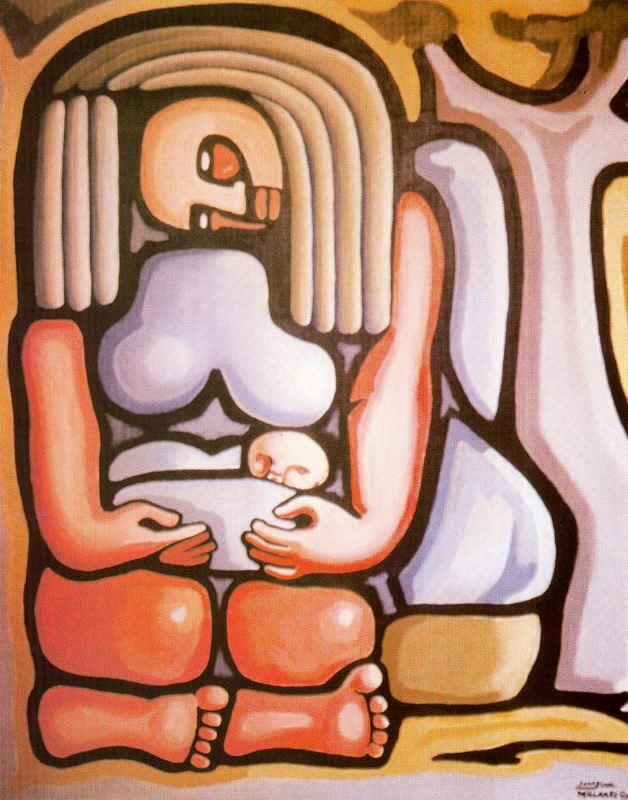 Jane Millares, Arrorro, 1990. Acrílico lienzo. Colección privada