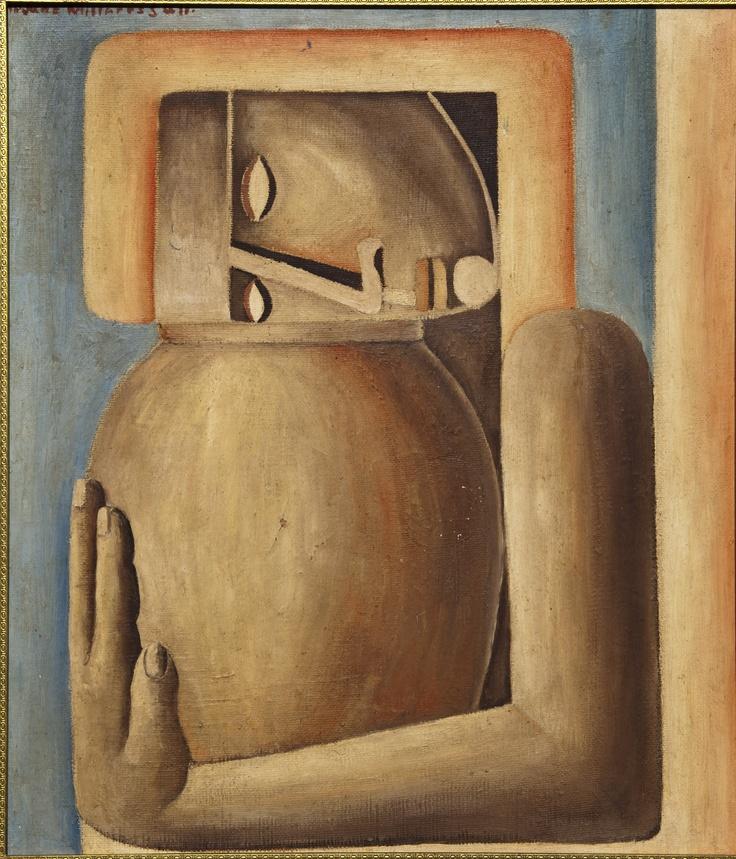 Jane Millares, Vasija de barro, 1959. Oleo tablex. Colección artista
